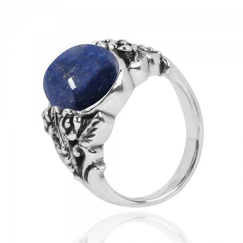 [NRB5097-LAP] Oval Shape Lapis Lazuli Statement Ring
