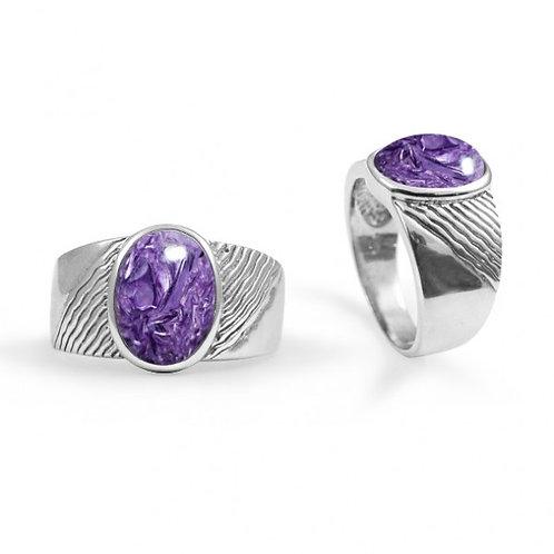 [NRB6796-KYA] Round Shape Kyanite Gemstone Ring
