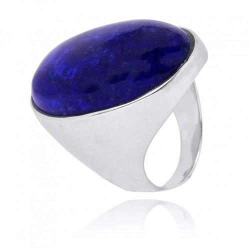 [NRB5973-LAP] Oval Shape Lapis Lazuli Statement Ring