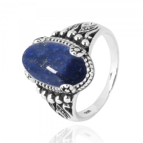 [NRB5215-LAP] Oval Shape Lapis Lazuli Gemstone Ring