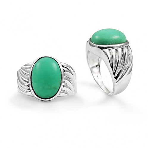 [NRB6704-CRP] Heart Shape Chrysoprase Cocktail Ring