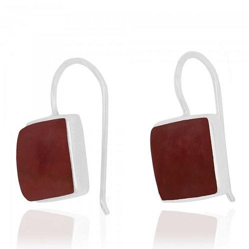 [NEA2411-RDC] Cushion Shape Rhodocrosite Drop Earrings