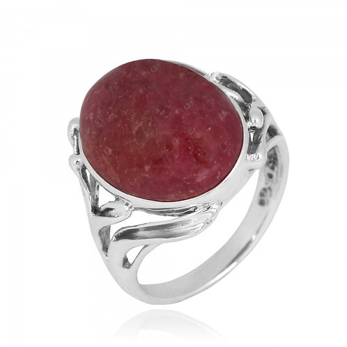 [NRB7477-RDN] Oval Shape Rhodonite Cocktail, Statement Ring