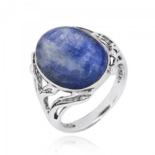 [NRB7477-KYA] Oval Shape Kyanite Cocktail Ring