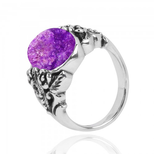 [NRB5097-SUG] Oval Shape Sugilite Statement Ring