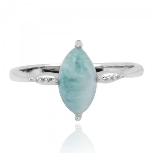 [NRB4594-LAR] Marquise Shape Larimar Cocktail Ring