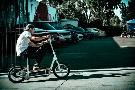 Folding E-Bike being ridden