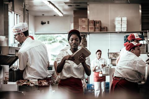 Scenes-Fast Food In N Out employee (heli