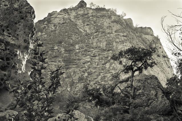Landscapes-Malibu Creek Cliff (helios) 1