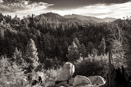 Landscape-San Bernardino Mountains from
