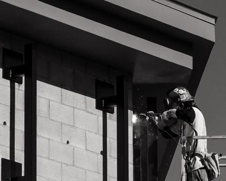 Scenes-Construction worker soldering (FD