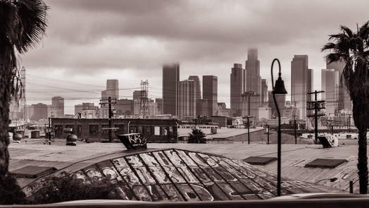 Landscapes-DTLA in the clouds (FDmacro)