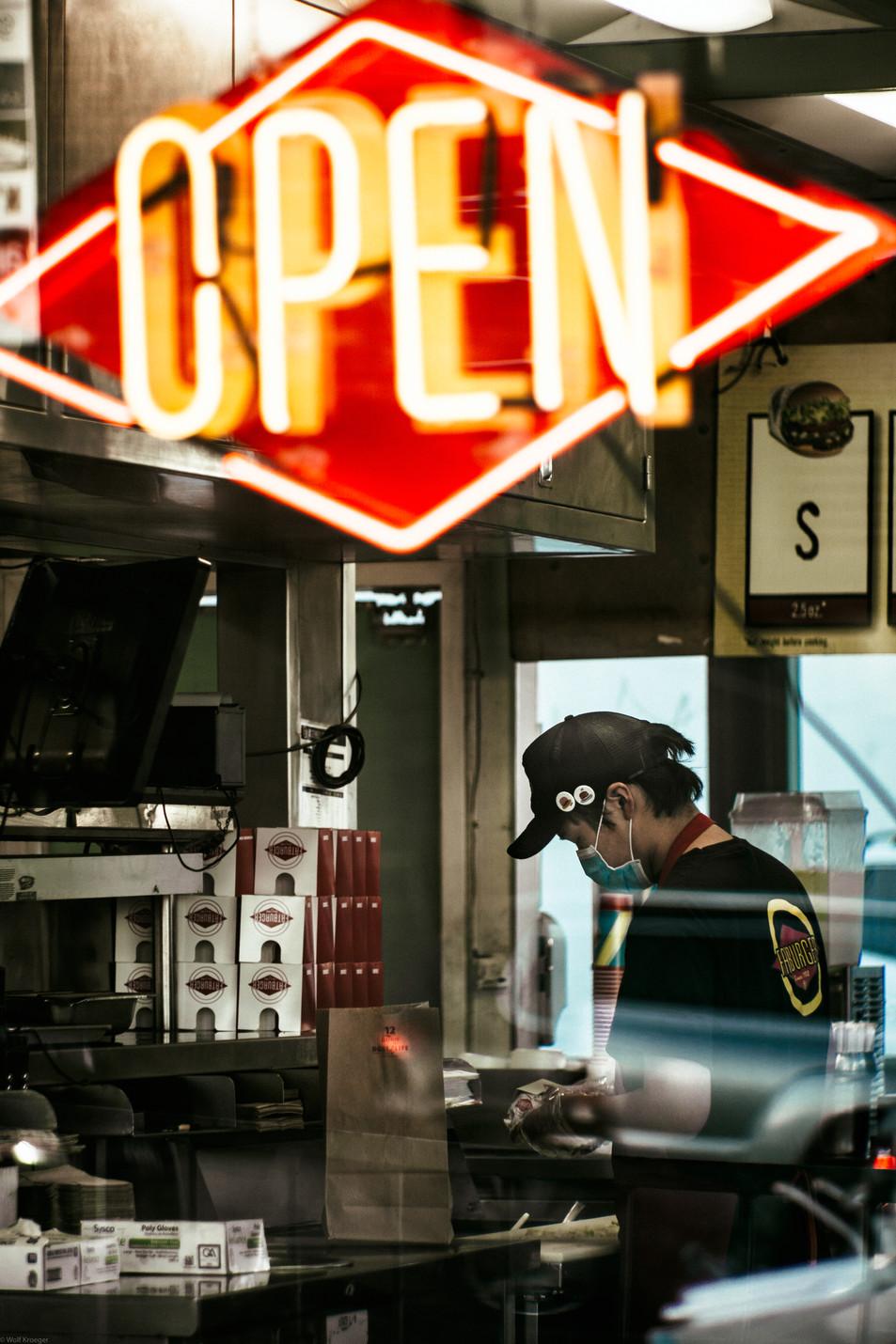 Scenes-Fatburger burger maker hard at wo