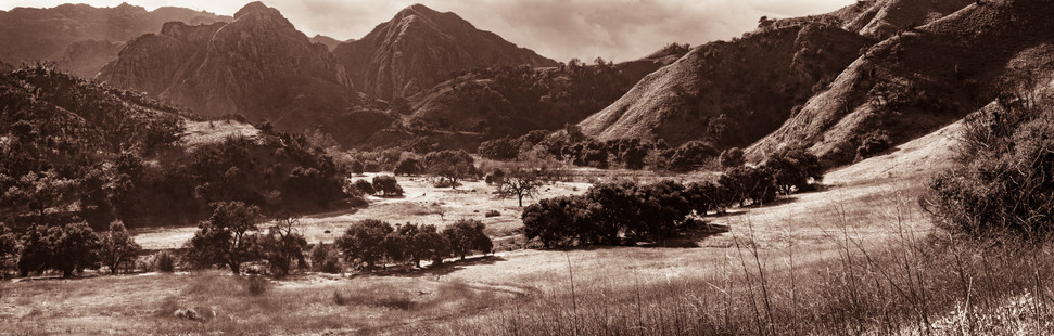 Landscapes-Main valley in Malibu Creek (