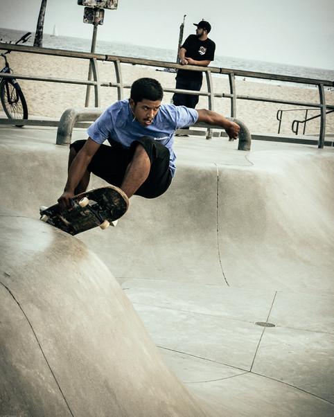 Scenes-Skater at Venice Beach Skatepark