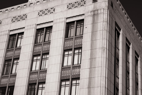 Buildings-DTLA art deco building facade