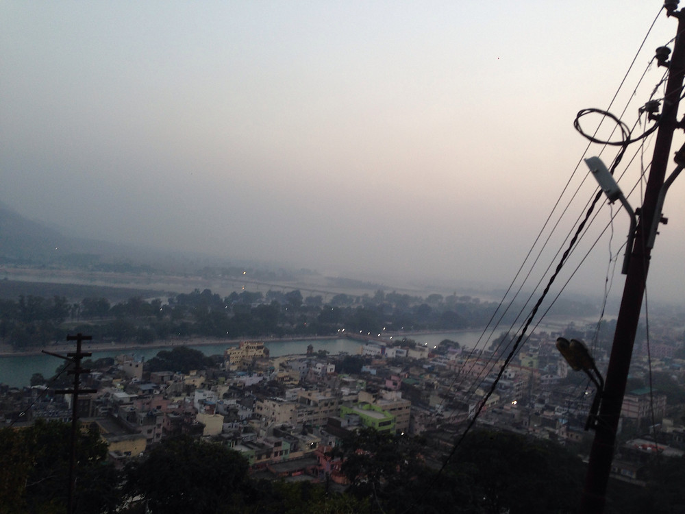 View from the top of Mansa Devi Mandir.