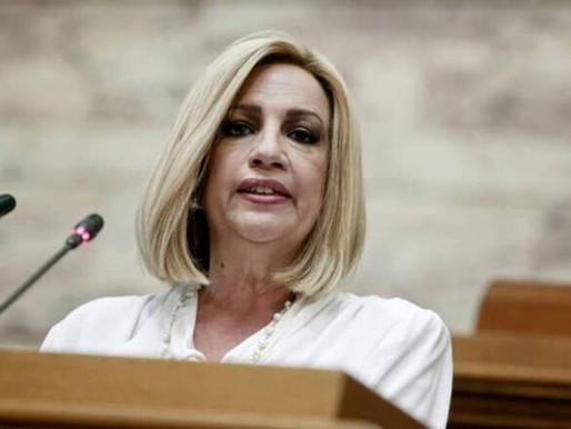 """Πυρά κατά της κυβέρνησης απο τη Φώφη Γεννηματά - Κάνει λόγο για """"γαλάζιο"""" ΣΥΡΙΖΑ"""