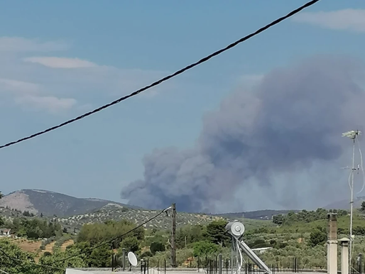 Ανεξέλεγκτη μεγάλη πυρκαγιά στην Κορινθία-Εκκενώθηκε οικισμός- Μήνυμα απο το 112
