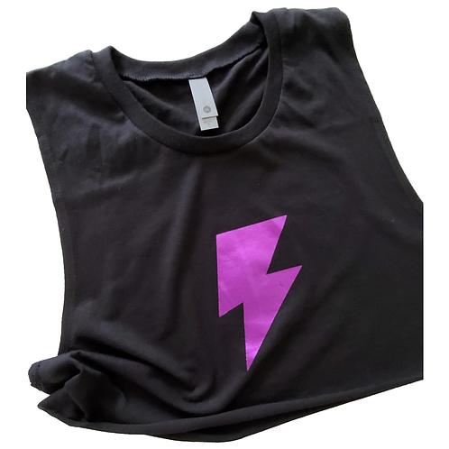 Lightning Bolt Muscle Crop Tank