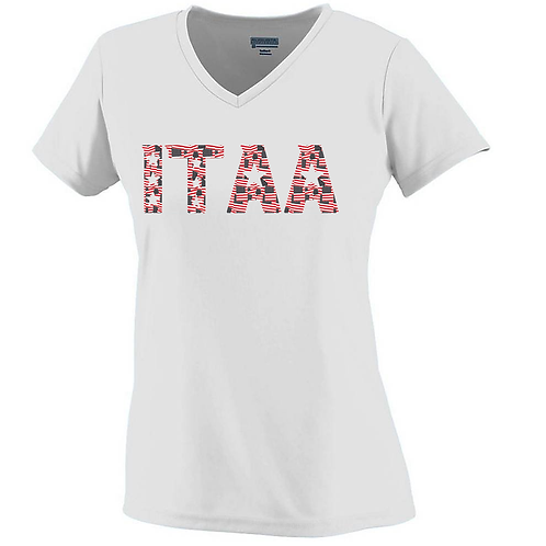 ITAA LADIES Flag Print Cool-Dri Wicking Tee