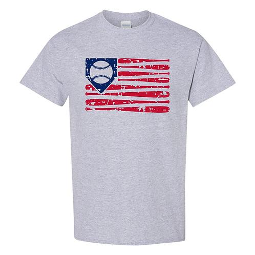 Baseball Flag Cotton Feel Wicking Tee