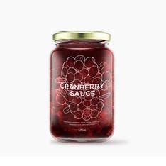 Cranberry Sauce Jar Design