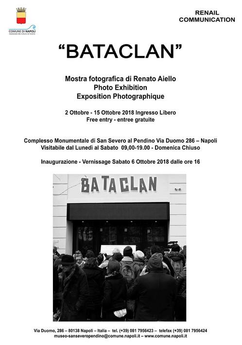 """""""BATACLAN"""", PERSONALE DI RENATO AIELLO A VIA DUOMO SUL MEMORIALE DEGLI ATTENTATI"""