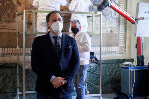 AVVIO LAVORI DI RESTAURO DEL MOSAICO DI ALESSANDRO MAGNO AL MANN