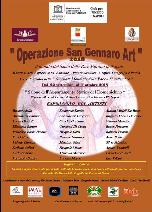 OPERAZIONE SAN GENNARO ART 2018, AL MUSEO DEL TESORO L'ARTE IN MOSTRA