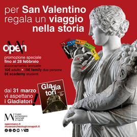 SAN VALENTINO E IL MANN, LE INIZIATIVE SOCIAL DEL WEEKEND E NON SOLO AL MUSEO ARCHEOLOGICO NAZIONALE