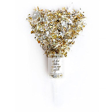 Push-Pop Lança Confete Metálico