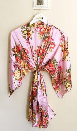 Robe Rosa com Estampa Floral
