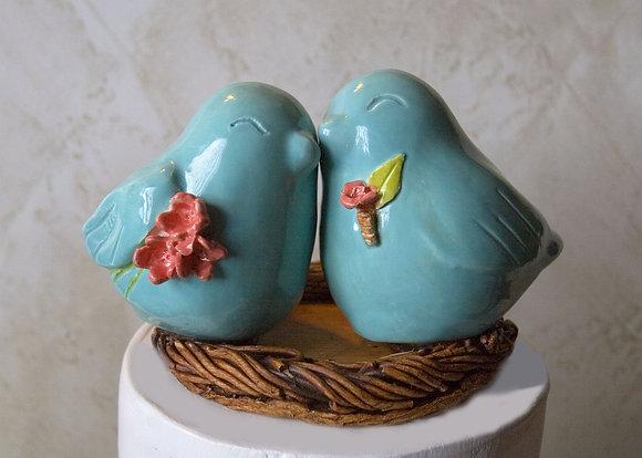 Snuggling Birds Bouquet e Boutonniere