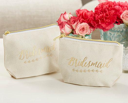 Necessaire Bridesmaid em Dourado