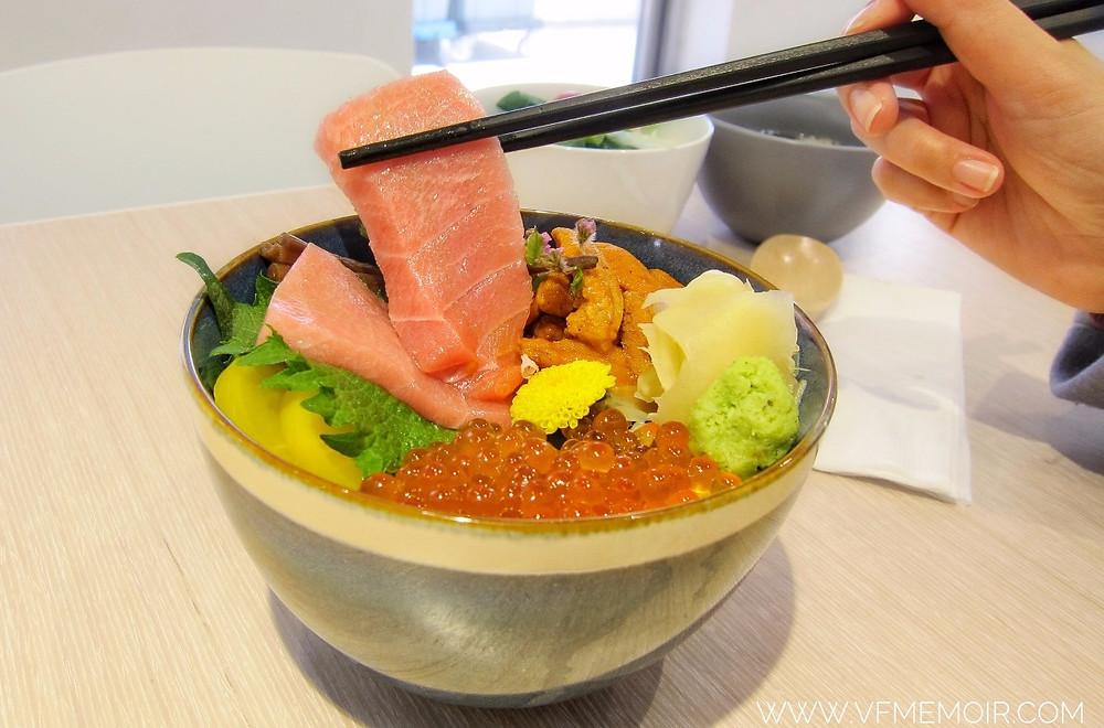 海膽· 大吞拿魚腩· 三文魚籽丼  $268