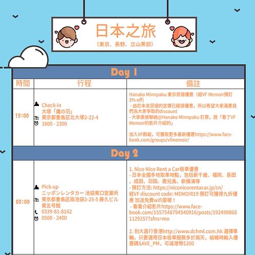 東京近郊行程 2019 - VF Memoir