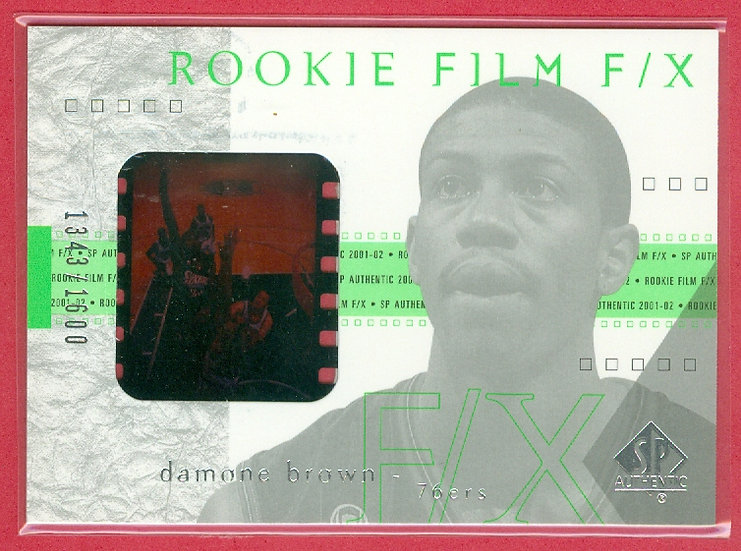 Damone Brown SP RC GAME FILM FX CARD #d 1343/1600