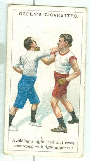 """RARE 1914 OGDEN'S """"BOXING"""" TOBACCO CARD #18"""