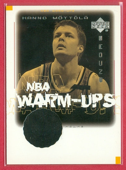 """""""Hanno Mottola"""" SP GAME-USED WARM-UPS RELIC CARD"""
