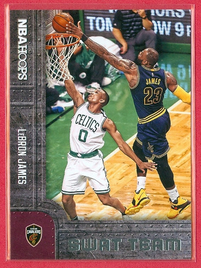 """LeBron James"" NBA HOOPS SP ""SWAT TEAM"" CARD #8"