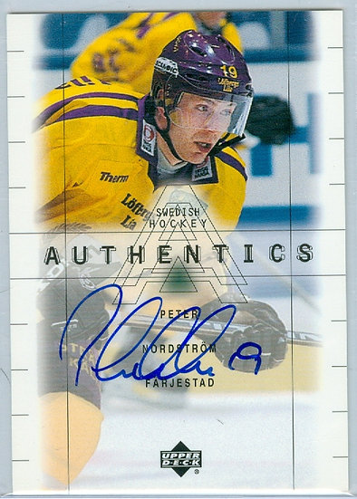 """""""Peter Nordstrom"""" AUTHENTIC ON-CARD AUTOGRAPH"""
