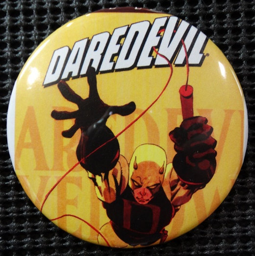"""DAREDEVIL"" POP CULTURE 3"" PINBACK/PIN-BACK COMIC BUTTON"