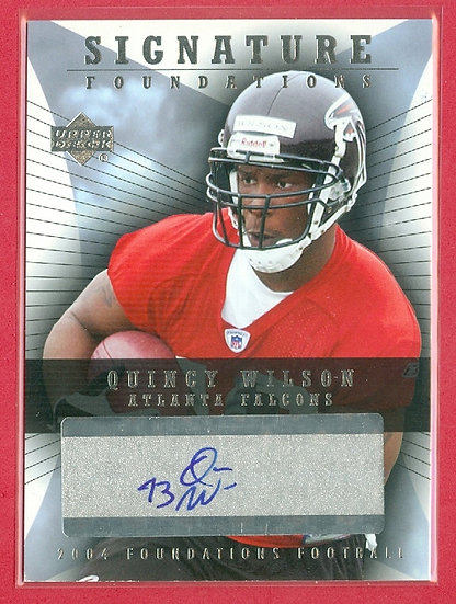 """Quincy Wilson"" SP ROOKIE AUTOGRAPH CHASE CARD"