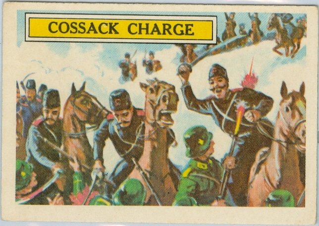 "1965 ""BATTLE CARDS"" #30 - ""COSSACK CHARGE"""