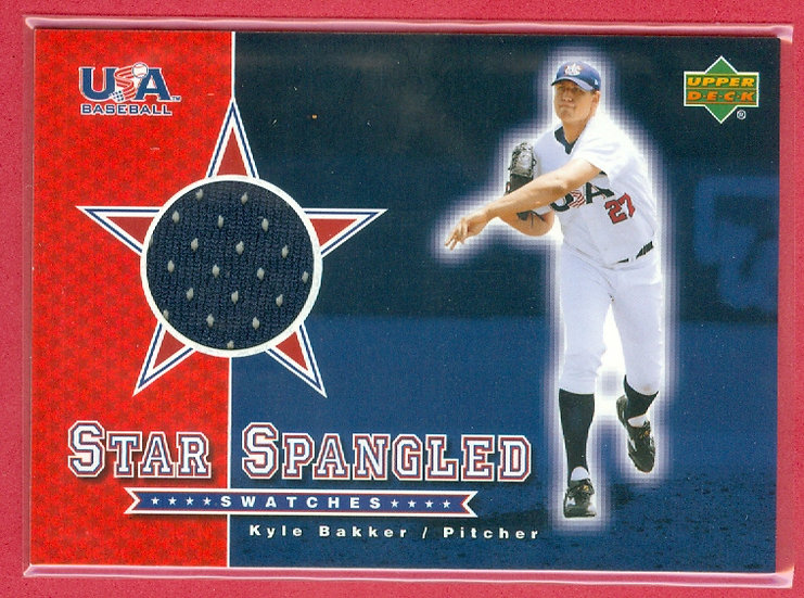 """""""Kyle Bakker"""" SP ROOKIE JERSEY RELIC CHASE CARD"""