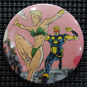 """NAMORITA/NOVA/NEW WARRIORS"" POP CULTURE 3"" PINBACK/PIN-BACK COMIC BUTTON"