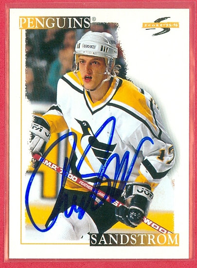 """""""Tomas Sandstrom"""" IN PERSON/THROUGH THE MAIL AUTO"""