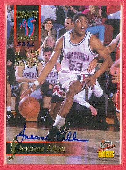"""""""Jerome Allen"""" SP RC AUTOGRAPH CARD #d 5332/7750"""