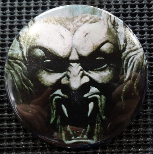 """SCULPTURE/DRACULA"" POP CULTURE 3"" PINBACK/PIN-BACK COMIC BUTTON"